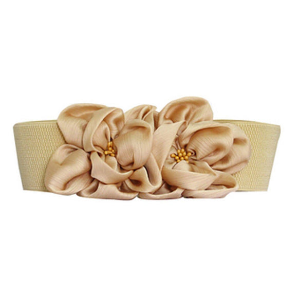 Hot Sale Fresh Fashion Large Flower Wide Belts For Women