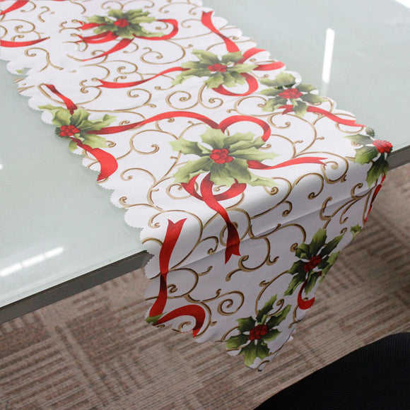 Christmas Cloth Table Flag Christmas Table Decoration Supplies