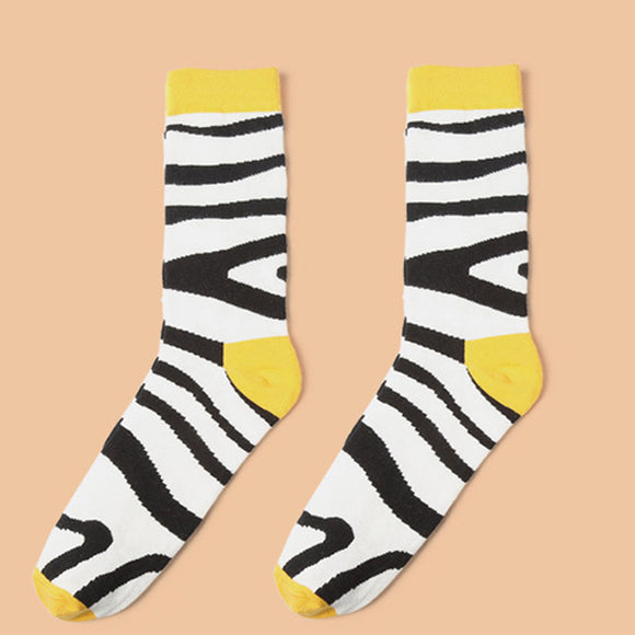 Man Personality Creative Printing Autumn And Winter Cotton Socks