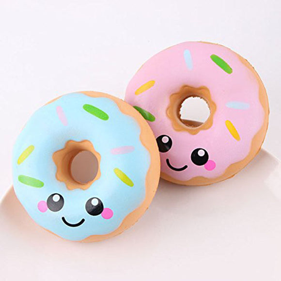 Lovely Doughnut Cream Scented Squishy Slow Rising Squeeze Simulation Toy Anti Stress Soft Toy Gifts