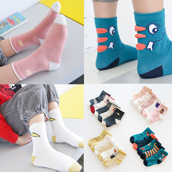 5 Pairs/pack Baby Warm Cotton Blend Socks Children Winter Socks
