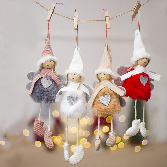 Cute Angel Plush Doll Christmas Tree Creative Charm Christmas Decoration