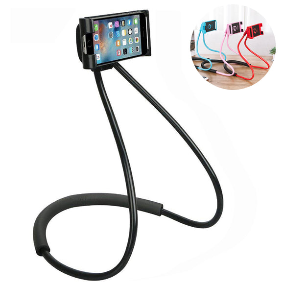 Bracket Universal 360 Degree Rotation Flexible Phone Selfie Holder Snake-like Neck Bed Mount Anti-sk