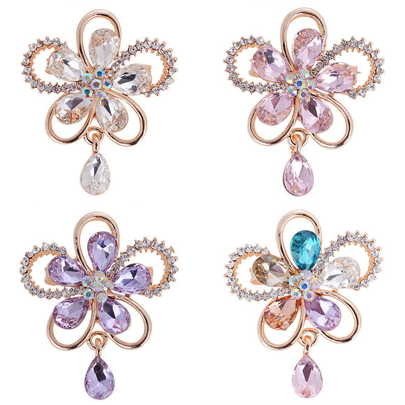 1 Pcs Lady Flower Brooch Dress Accessories