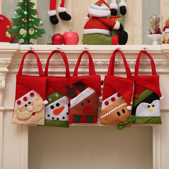 Christmas Tote Bag Christmas Eve Candy Gift Bag Home Holiday Decoration