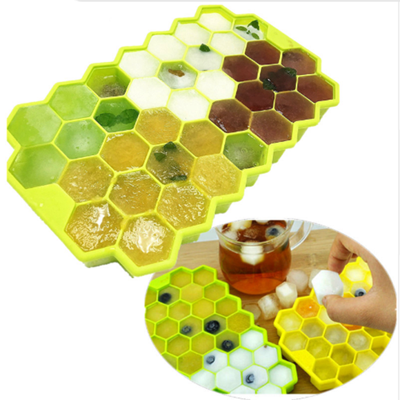 Honeycomb Ice Cube Tray Silicone Ice Lattice Mold Color Random