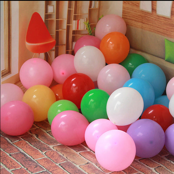 100pcs 10-inch 2.2-gram Round Wedding Decoration Balloon With An American Light Color Balloon