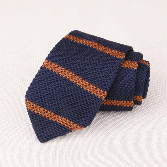 7cm Tie Fashion Knit Striped Dot Tie Wedding Party Accessories Gift For Men