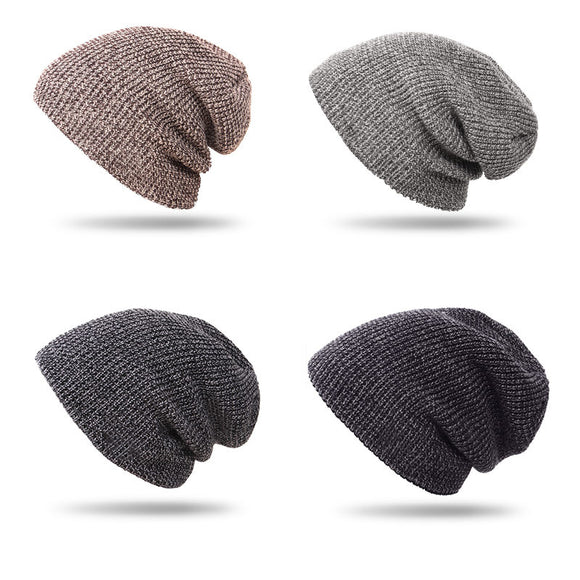 Men's Fall Winter Hat Fashion Knitted Hat Thicken Warm Hat