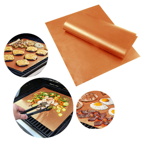 High Temperature Resistant Outdoor Barbecue Mat Can Be Washed Without Sticking Iron Barbecue Mat