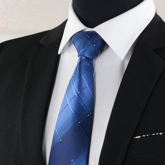 8cm Formal ties business wedding Classic Men's tie stripe grid Fashion Accessories men neckties