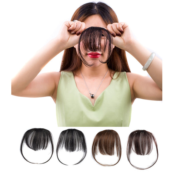 Thin And Light Towheaded Fluffy Front Neat Bangs Synthetic Hair Pieces