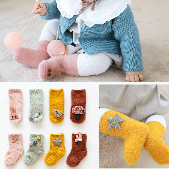 Thick Warm Baby Socks Stereo Cartoon Baby Socks Winter Socks