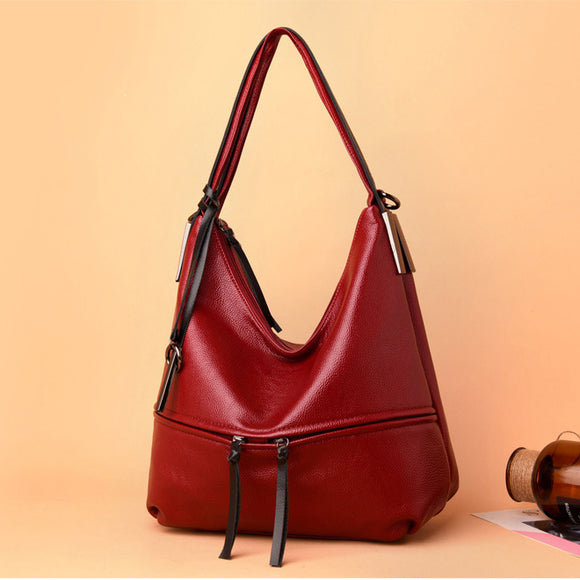 Soft Leather Large Capacity Casual Shoulder Bags Cross-body Bags Totes
