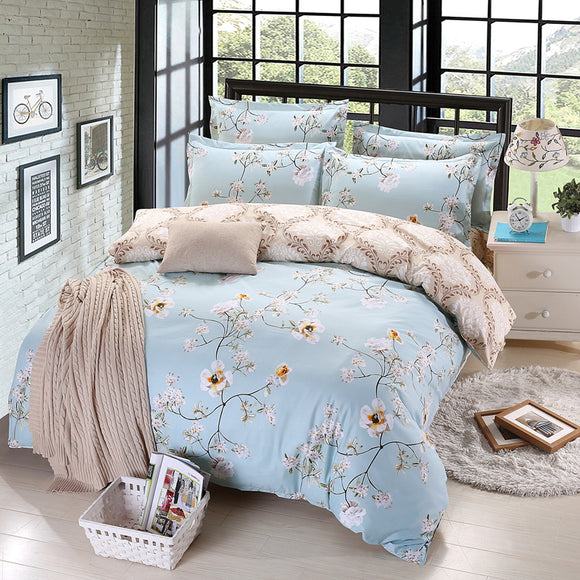 Simple Pattern Soft Bedding Set Of Four Sets Of Home Textiles