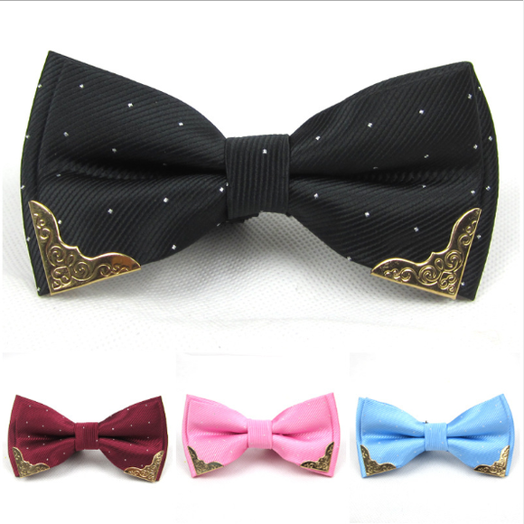 Fashion Men Bow Tie Fake Collar Women Silk Tie Butterfly Adjustable Bowtie Halloween Wedding Bow Tie