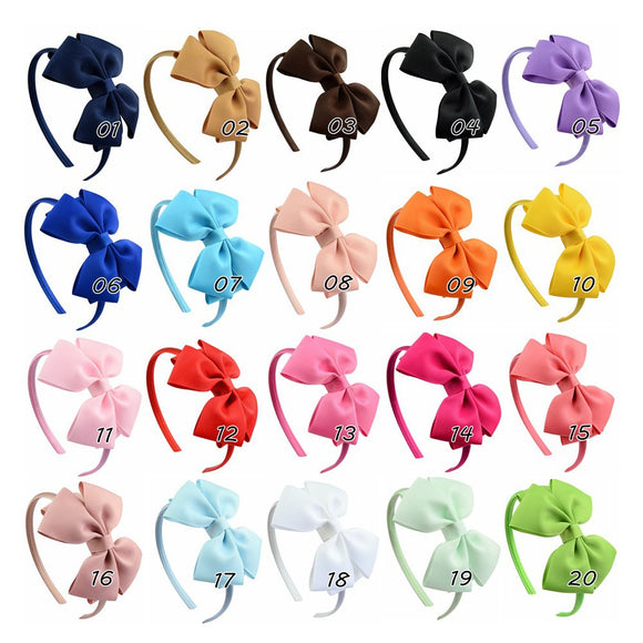 Kids Handmade Bowknot Hair Band Set Headband Hair Accessories