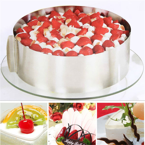 Stainless Steel Retractable Circular Cake Ring Cake Mold Baking Tools