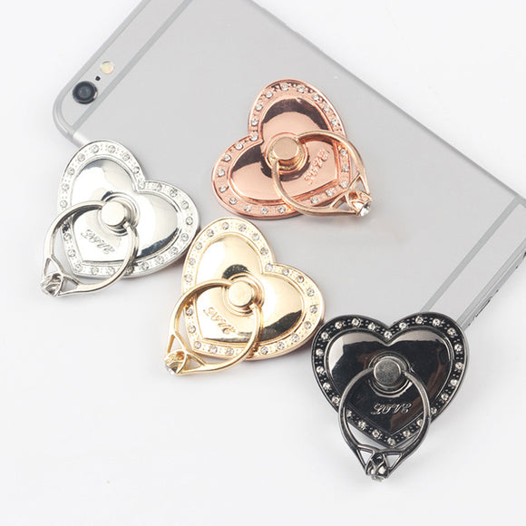 Creative Love Heart Shaped Mobile Phone Ring Bracket Phone Holder Stents