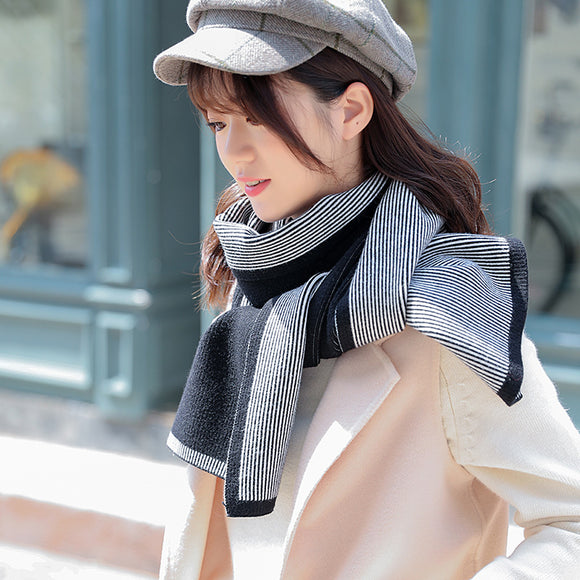 Autumn And Winter Long Knitted Scarf Warm Shawl