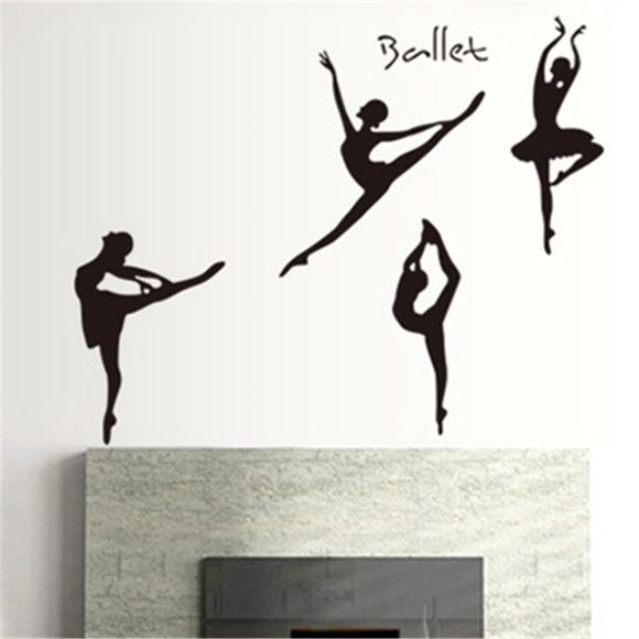Creativity Silhouette Of Ballet Wall Sticker Home Decoration