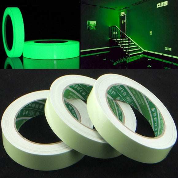 5 Meters Safety Sign Glow In The Dark Luminous Tape Green Fluorescent Home Stage