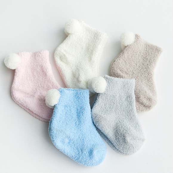 3 Pairs/pack Baby Thick Warm Coral Velvet Socks Children Winter Socks
