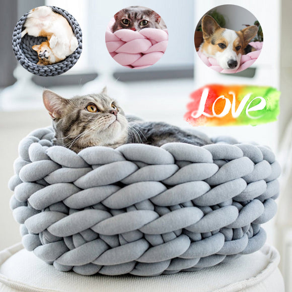 Hand-woven Cotton Pet Nest For Winter And Autumn