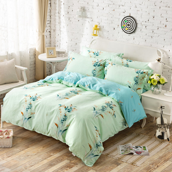 Bedding Four-piece Cotton Soft Reactive Printing Pattern Home Textiles