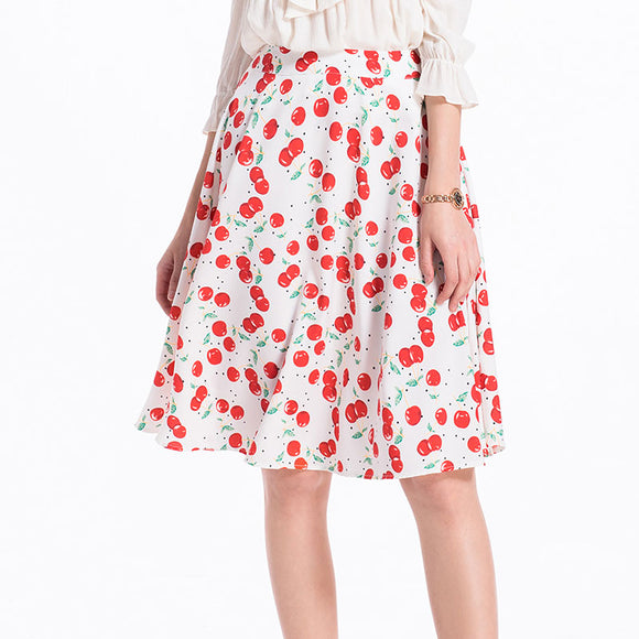 Woman Fruit Printting Vintage Skirt Fashion Skirt