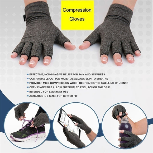 Therapy Wrist Support Anti Arthritis Rheumatoid Health Hand Pain Relief Sleeve Gloves
