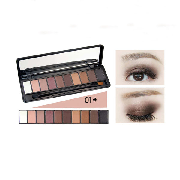 10 Color Pearl Light Matte Color Eye Shadow Disc