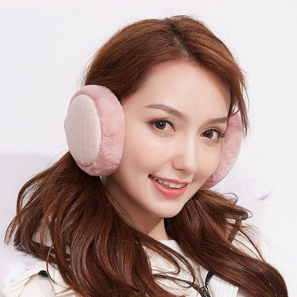 Winter Foldable Keep Warm Windproof Earmuffs Plush Ear Cover