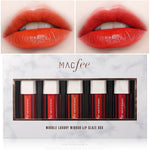 5 Pieces Waterproof And Long-lasting Moisturizing Not Decoloring Mirror Lip Glaze Suit