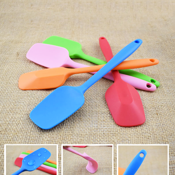 Silicone Cover Shovel Cake Spatula Cream Scraper Small Size Non-stick Anti-hot Cooking Utensils