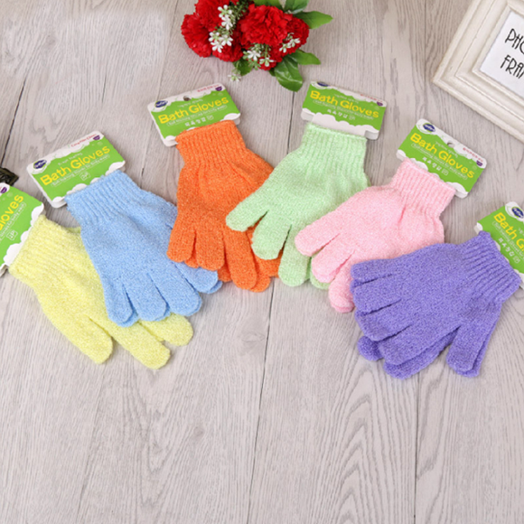 Shower Gloves Bathing Supplies Body Cleaning Tool(random color)