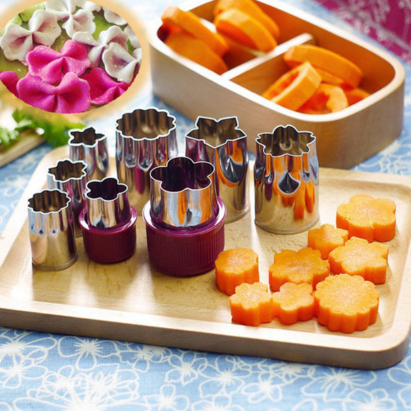 8PC/SET Stainless Steel Vegetable And Fruit Cutter Biscuit Mold Cake Mold Baking Tools