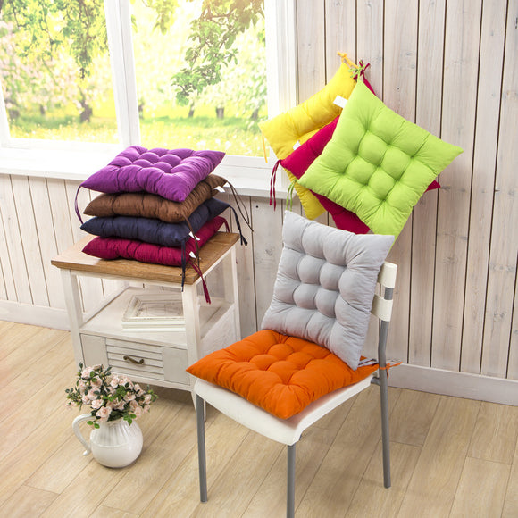 40*40cm Solid Color Sanding Thickening Office Chair Cushion Winter Warm Mat