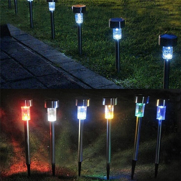 Solar Stainless Steel Small Pipe Lamp Waterproof Outdoor Led Courtyard Landscape Plug Lawn Lamp