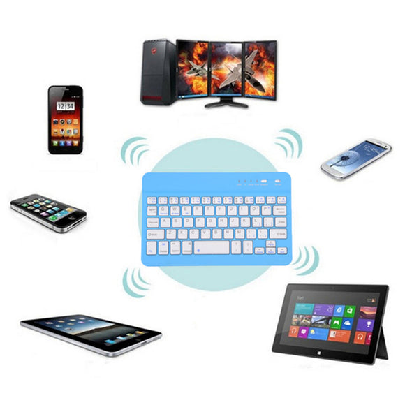 7-inch Silent Ultra-thin Wireless Keyboard For Galaxy Tabs Ios Android Windows Tablet