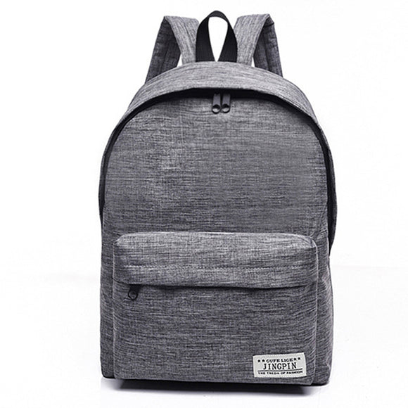 Women Canvas Solid Backpack Casual Simple College Wind Bag