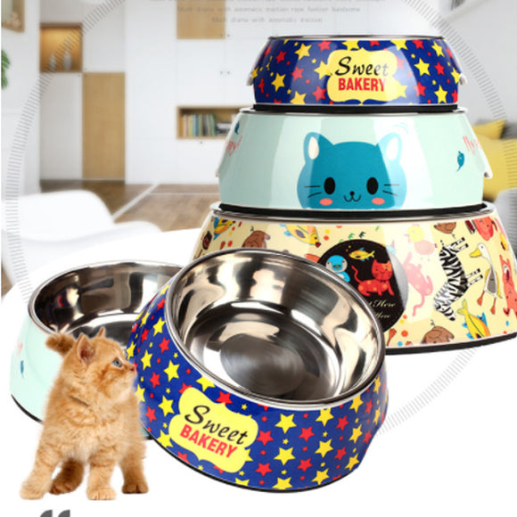 Stainless Steel Cartoon Stainless Steel Dog Bowl