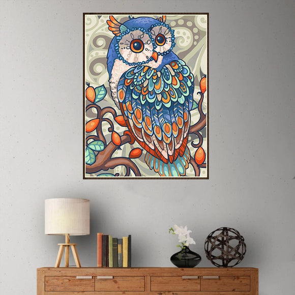 5d Diy Diamond Painting Animal Embroidery Owl Cross Embroidery Crafts Ornaments Mosaic Painting