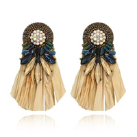 1 pair Creative Vintage Bohemia Tassel Earring Charm Women Retro Popular Casual Prom Party Earrings