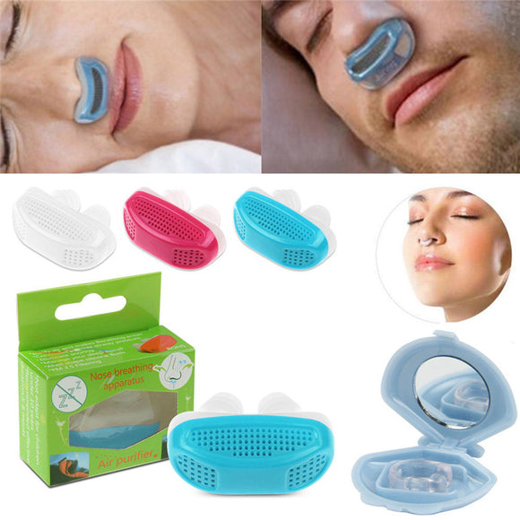 Prevent Snore Stuffy Nose Ventilator Purifies Air Sleep Anti-snore Silicone Device