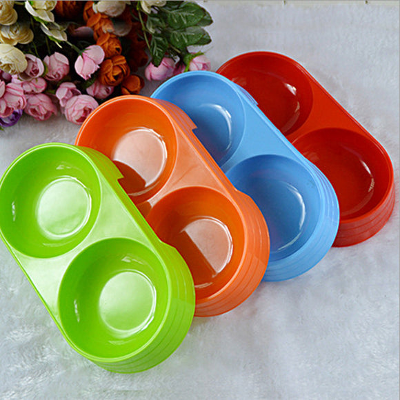 Cat And Dog Pet Double Bowl Can Be Fed To Feed Water