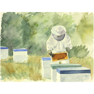 "Unframed Print - ""Meadow Apiary"""