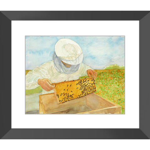 "Framed Print  - ""Hive Expansion"""