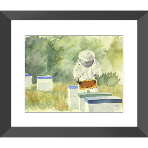 "Framed Art Print - ""Meadow Apiary"""