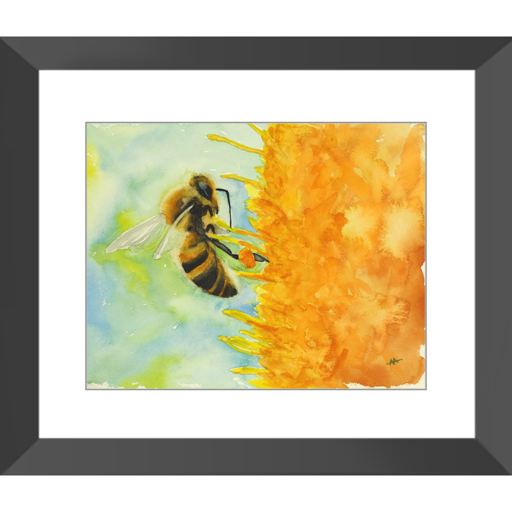 "Framed Art Print - ""Foraging Honeybee"""